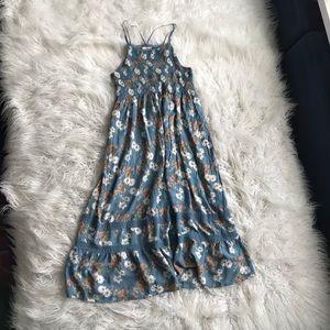 Altar'd State Blue Floral Maxi Summer Dress